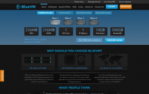 BlueVM – $18/Year 512MB and $29.95/year 1GB KVM in Los Angeles or Buffalo