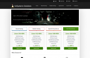 123systems – $30/year 2GB, $15/year 512MB, and $9/year 256MB OpenVZ VPS in Dallas