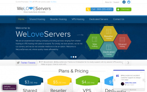 WeLoveServers – $19/year 1GB and $6/month 2GB in five locations world-wide