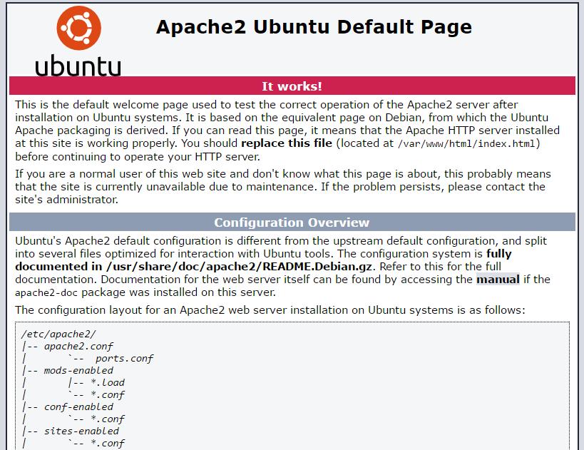 LAMP stack installation Ubuntu apache