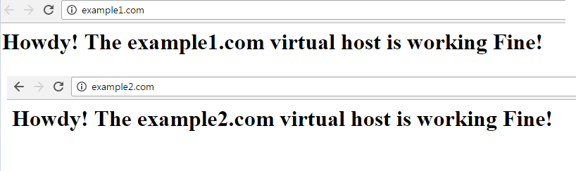 apache virtual host set up completed successfully