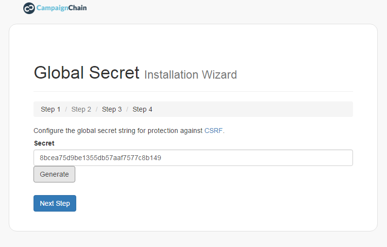 global secret installation wizard