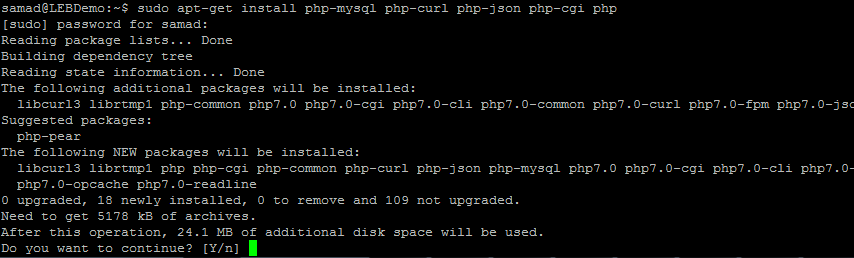 installing PHP on Ubuntu 16.04