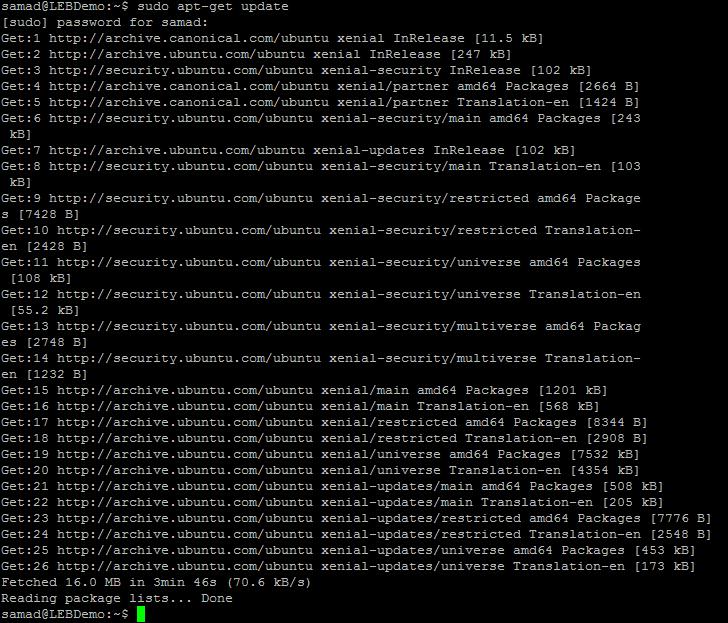 update Ubuntu 16.04 system