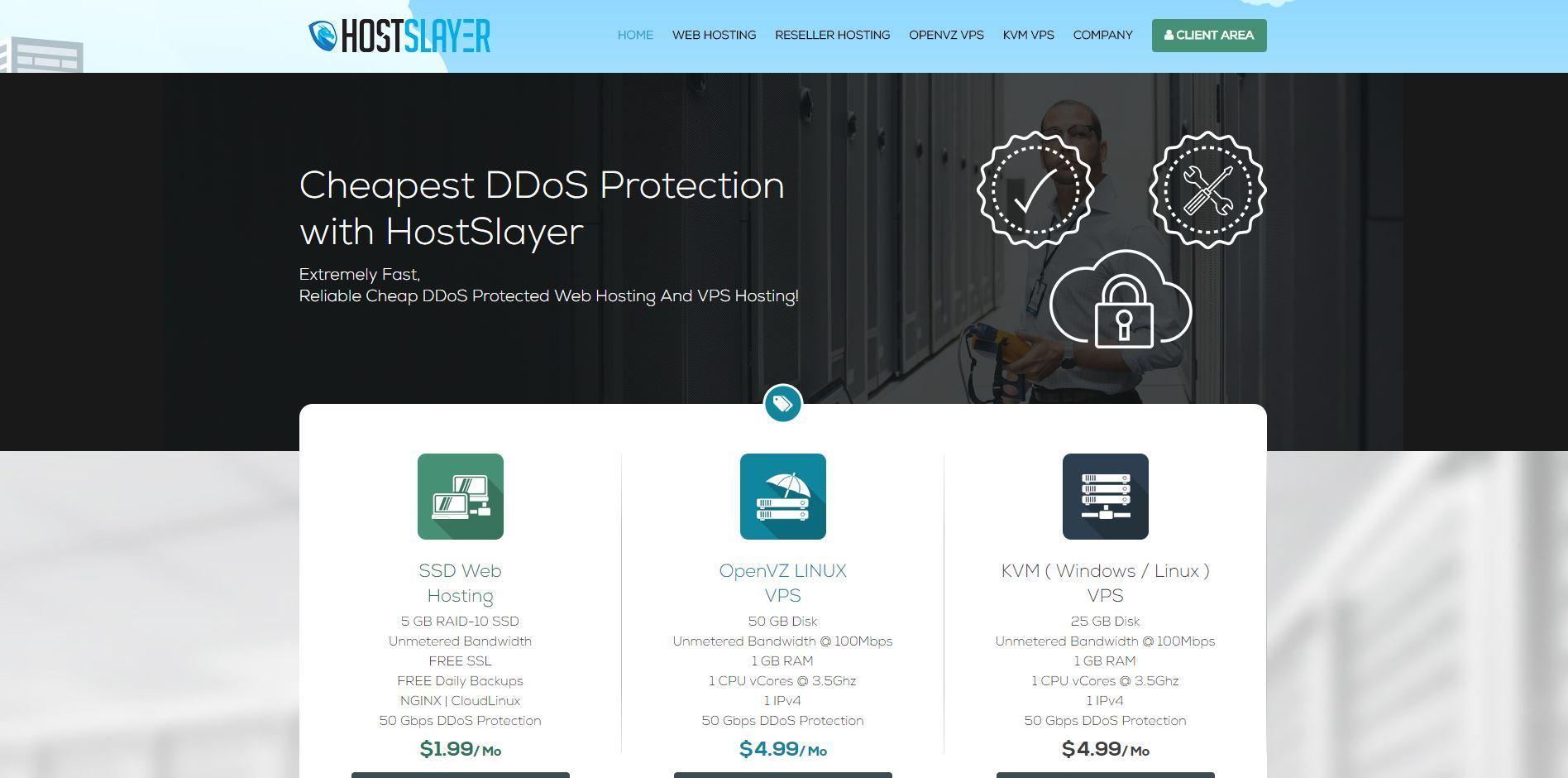 HostSlayer LLC - DDoS Protected Web Hosting, Reseller Hosting & VPS