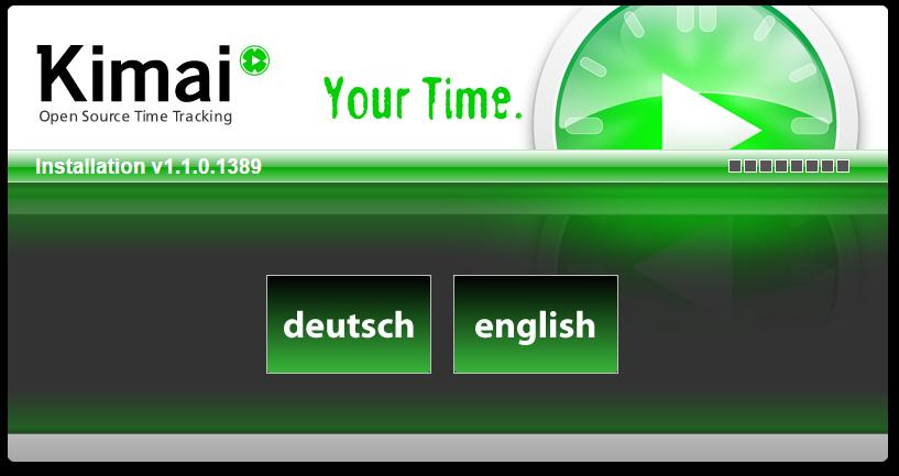 install Kimai using web browser