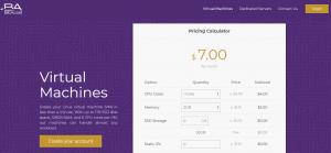 BitAccel VPS Hosting Price Calculator