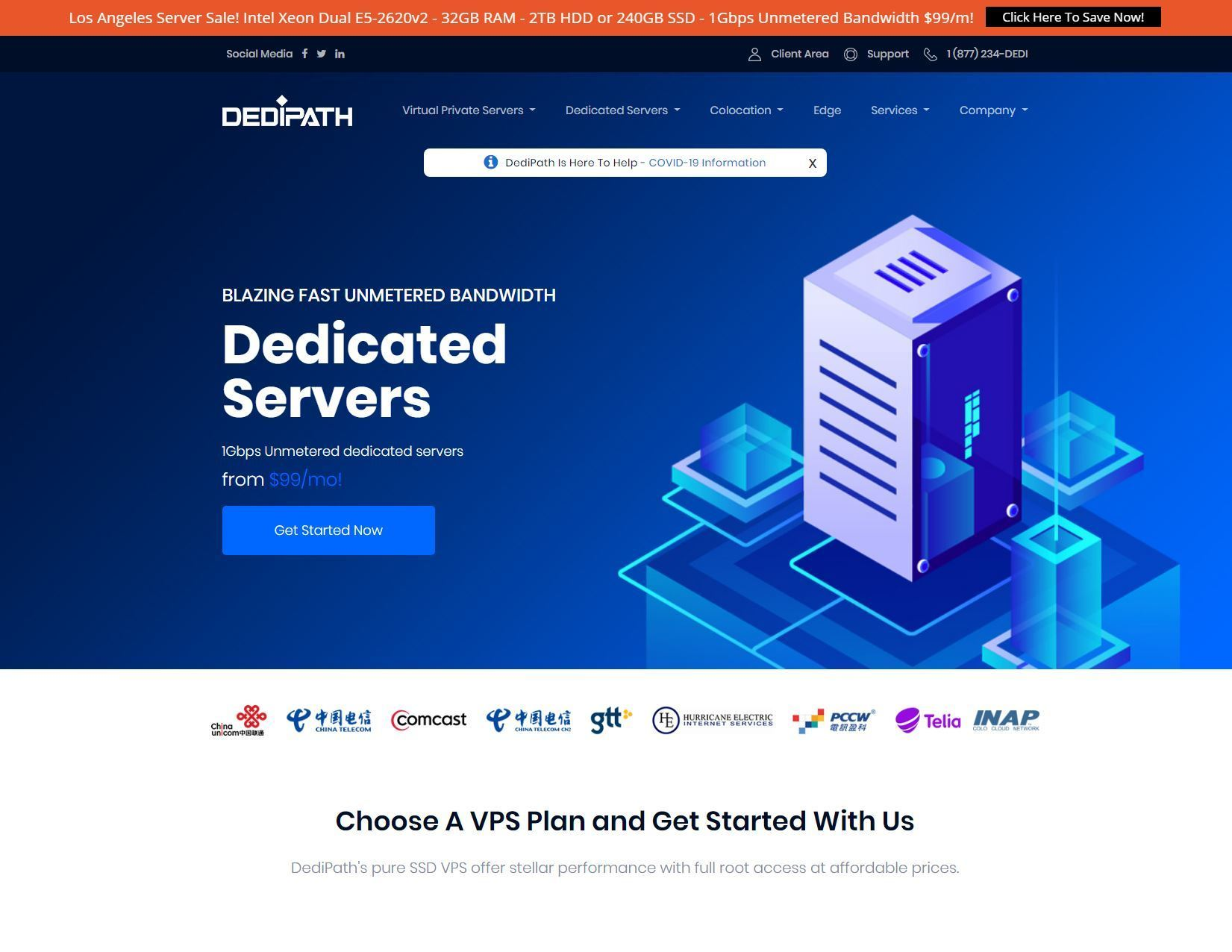DediPath - VPS and Dedicated Servers in Los Angeles and New Jersey