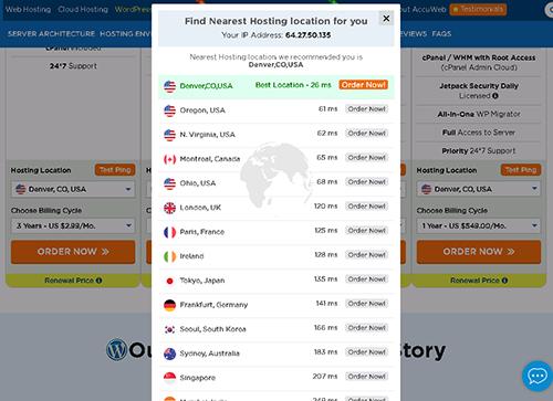 AccuWebHosting Network Check